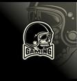 logo e sport bikers helmet design template vector image vector image