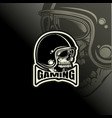 logo e sport bikers helmet design template vector image