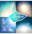 magic sky backgrounds set vector image