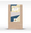 nuts chocolate craft paper bag product label vector image vector image