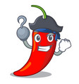 pirate cartoon red hot natural chili pepper vector image vector image