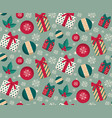 present boxes and toys seamless pattern vector image vector image