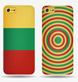 Rear covers smartphone with flags of Lithuania vector image vector image