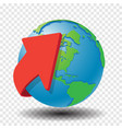 red arrow around globe vector image