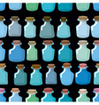 Research laboratory bottles seamless pattern vector image vector image