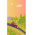 Rural Landscape with Vineyard vector image vector image
