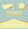 sale banner big sale banner template design sale vector image vector image