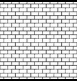 seamless monochrome pattern with bricks vector image vector image