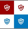security logo s shield logo vector image