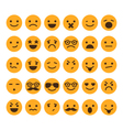 set different smileys vector image vector image