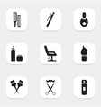 set of 9 editable barber icons includes symbols vector image vector image
