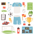 soccer footballer or soccerplayer in vector image