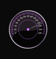 Speedometer on a black background Violet scale vector image vector image