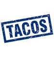 square grunge blue tacos stamp vector image vector image