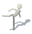stick man kicking icon isometric style vector image vector image