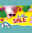 summer sale banner background vector image
