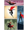 super heroine banners 6 vector image vector image