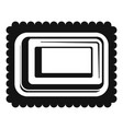 sweet bakery icon simple style vector image