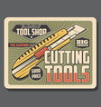 tool shop stationery knife vector image