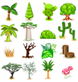 Tree Collection Pack vector image vector image