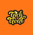 trick or treat text for party invitation vector image