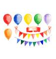 watercolor garland and balloons set vector image vector image