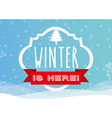 welcome winter design vector image vector image