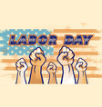 world labor day banner vector image vector image