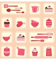 pattern on baking theme vector image