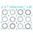 Hand-drawn floral laurel wreathes vector image