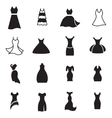 Dress Icon Set vector image