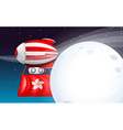 A floating balloon with the Hongkong flag vector image vector image