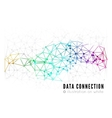 Abstract network connection background vector image