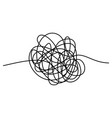 abstract tangle thread isolated on white vector image vector image