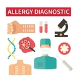 Allergy diagnostic and medical care vector image