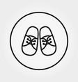 babooties sneakers universal icon vector image vector image