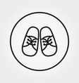 baby booties sneakers universal icon vector image