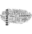 bermuda history text word cloud concept vector image vector image