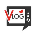 blog broadcasting multimedia source with old vector image vector image