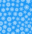 blue seamless christmas background flakes vector image vector image