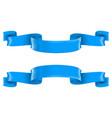 blue shiny 3d ribbon scrolls vector image vector image