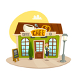 Cafe building coffee and tea shop front view vector image