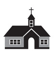 church icon black vector image