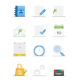 Clean designed web icons vector image