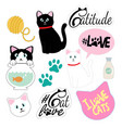 clipart and patches of cats cats stuff cat vector image