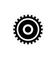 clock gear cogwheel flat icon vector image
