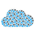cloud collage of integration icons vector image