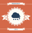 cloud thunderstorm lightning rain icon vector image