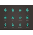 Coffee cup and Tea mug icons vector image vector image