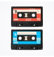 Colorful Cassette Tape Old Set vector image